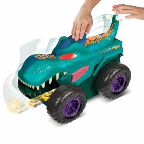Mattel Hot Wheels Monster Trucks Car Chompin Mega-Wrex Vehicle Perspective: left