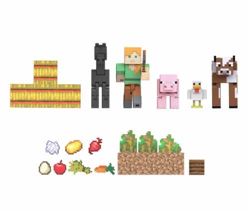 Mattel Minecraft Farm Life Adventure Pack Perspective: left