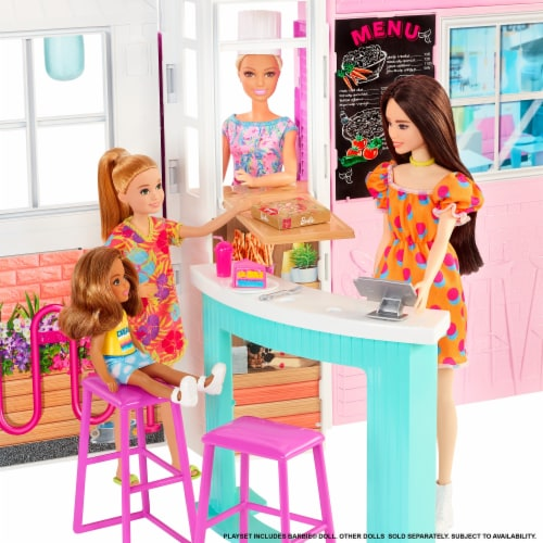 Mattel Barbie® Cook 'n Grill Restaurant Doll and Playset Perspective: left