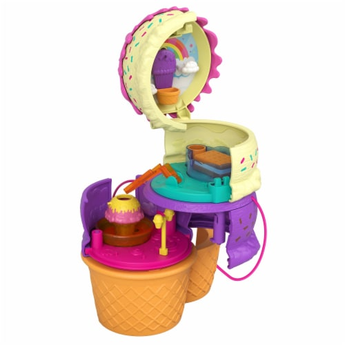 Mattel® Polly Pocket™ Spin 'N Surprise Playground Perspective: left