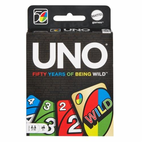 Mattel UNO 50th Anniversary Premium Edition Wild Card Game Perspective: left