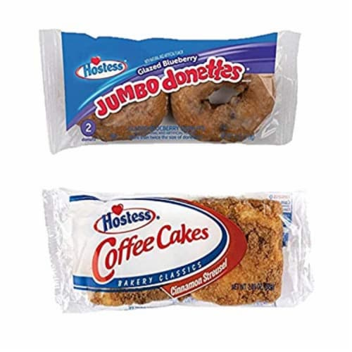 Hostess Variety Pack | Honey Buns, Coffee Cake, Donettes, Cakes, and Danish | 12 Packs Perspective: left