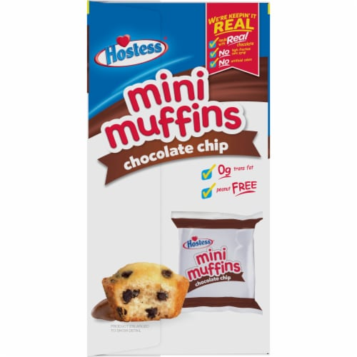 Hostess Chocolate Chip Mini Muffins 20 Count Perspective: left