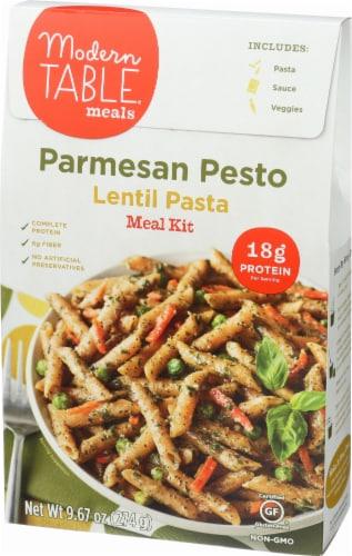 Modern Table Parmesan Pesto Lentil Pasta Meal Kit Perspective: left