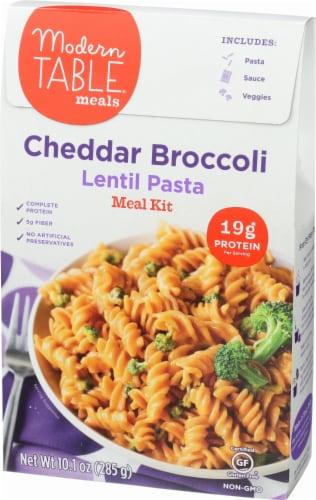 Modern Table Cheddar Broccoli Lentil Pasta Meal Kit Perspective: left