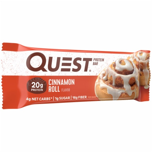 Quest Cinnamon Roll Protein Bar Perspective: left