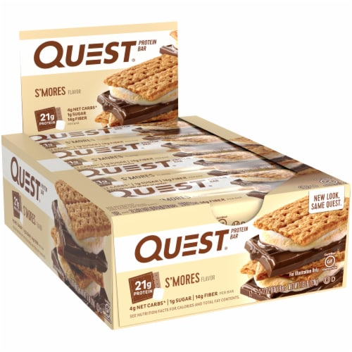 Quest S'mores Protein Bars 12 Count Perspective: left