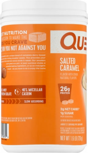 Quest Salted Caramel Protein Powder Perspective: left