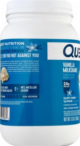 Quest Vanilla Milkshake Protein Powder Perspective: left