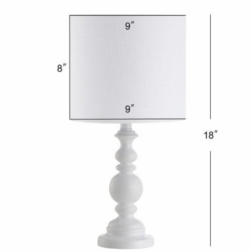 Harrington Table Lamp White Perspective: left