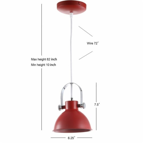 Rove Pendant Red Perspective: left