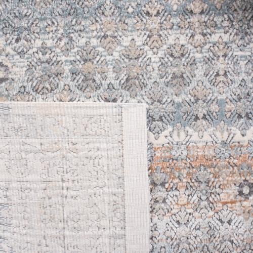 Martha Stewart Maze Cosmopolitan Floor Runner Rug - Cream/Gray Perspective: left