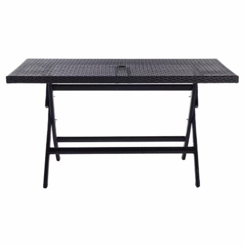 Akita Folding Table Black Perspective: left