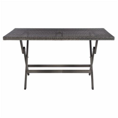 Akita Folding Table Grey Perspective: left