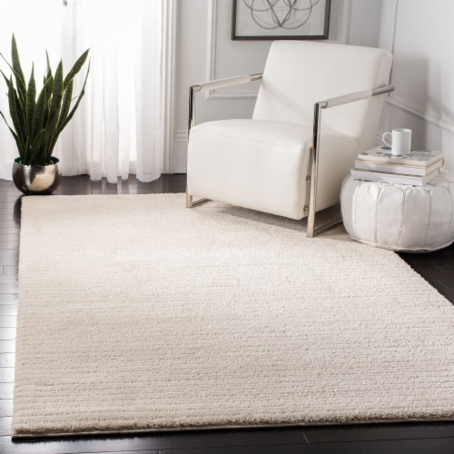 Martha Stewart Collection Lucia Shag Area Rug - Ivory Perspective: left