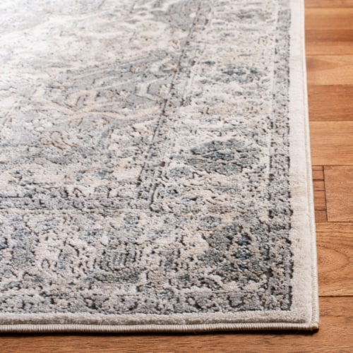 Martha Stewart Rancher Oregon Accent Rug - Ivory/Gray Perspective: left
