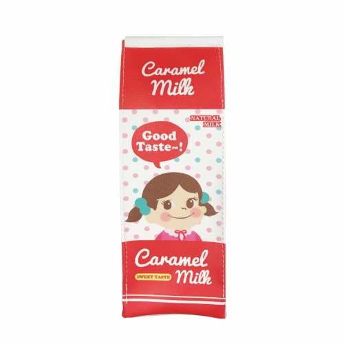 Wrapables Novelty Milk Carton Pencil Case Stationery Pouch (Set of 2) Perspective: left