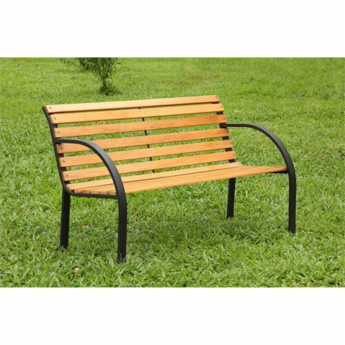 Jordy Traditional Patio Bench in Black - Furniture of America Perspective: left