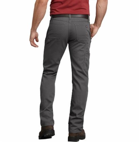 Dickies Men's FLEX Regular Fit Straight Leg Tough Max™ Duck Carpenter Pants - Slate Perspective: left