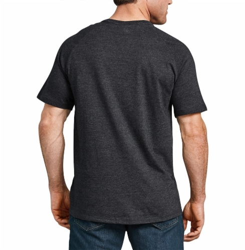 Dickies Mens Temp-iQ™ Performance Cooling T-Shirt - Heather Black Perspective: left