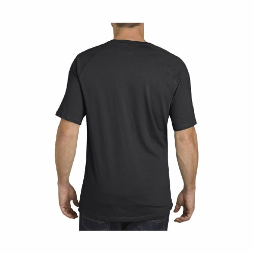 Dickies Mens Temp-iQ™ Performance Cooling T-Shirt - Black Perspective: left