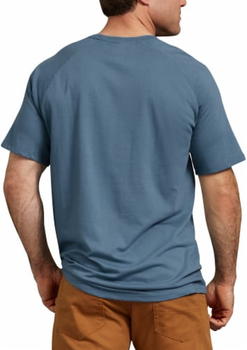 Dickies Mens Temp-iQ™ Performance Cooling T-Shirt - Dusty Blue Perspective: left