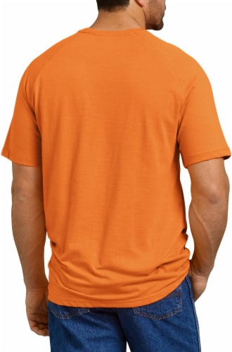 Dickies Mens Temp-iQ™ Performance Cooling T-Shirt - Bright Orange Perspective: left