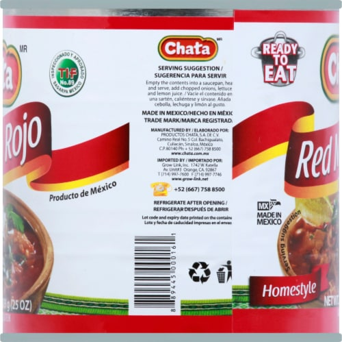 Chata Homestyle Red Menudo with Hominy Soup Perspective: left