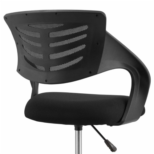 Thrive Mesh Drafting Chair - Black Perspective: left