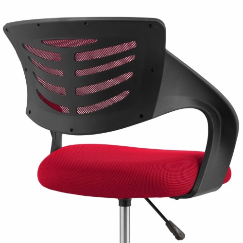 Thrive Mesh Drafting Chair - Red Perspective: left