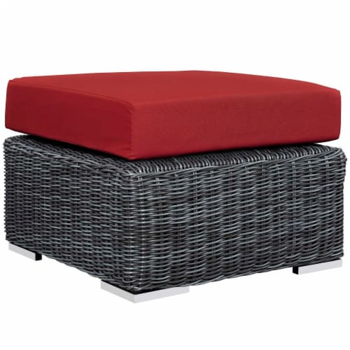 Summon 8 Piece Outdoor Patio Sunbrella Sectional Set - Canvas Red Perspective: left