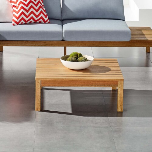 Freeport Outdoor Patio Patio Coffee Table Natural Perspective: left