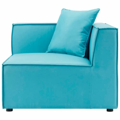 Saybrook Outdoor Patio Upholstered 2-Piece Sectional Sofa Loveseat Perspective: left