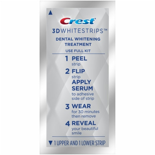 Crest 3D Whitestrips Arctic Mint Teeth Whitening Kit 14 Treatments Perspective: left