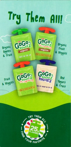 GoGo SqueeZ Apple Apple Applesauce Pouches Perspective: left