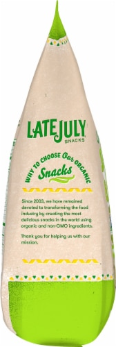 Late July Organic Sea Salt & Lime Restaurant Style Tortilla Chips Perspective: left