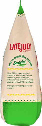 Late July Organic Sea Salt Thin & Crispy Restaurant Style Tortilla Chips Perspective: left