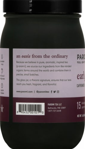 Paromi Earl Grey Black Full Leaf Tea Sachets Perspective: left