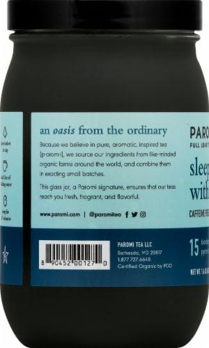 Paromi Sleep wiht Me Herbal Tea Full Leaf Tea Sachets Perspective: left