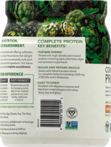 PlantFusion Chocolate Plant Protein Powder Perspective: left