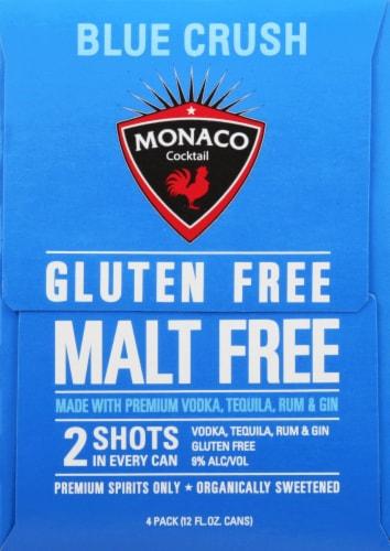 Monaco Blue Crush Malt Beverage Perspective: left