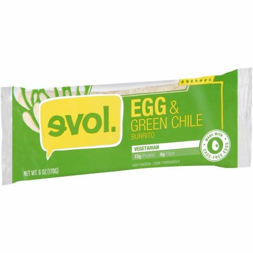 Evol Egg & Green Chile Burrito Perspective: left