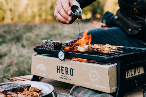 Fire & Flavor HERO Portable Charcoal Grill Perspective: left