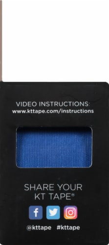 KT Tape Original Blue Elastic Sports Tape Perspective: left