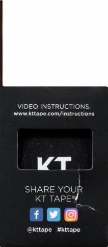 KT Tape Original Elastic Sports Tape - Black Perspective: left