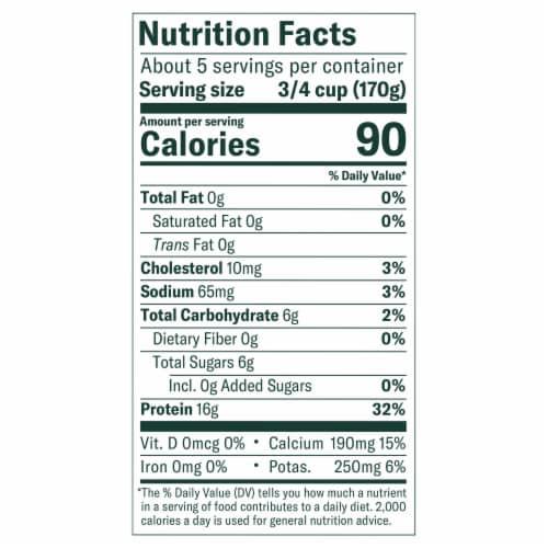 Chobani Original Plain Non-Fat Greek Yogurt Perspective: left