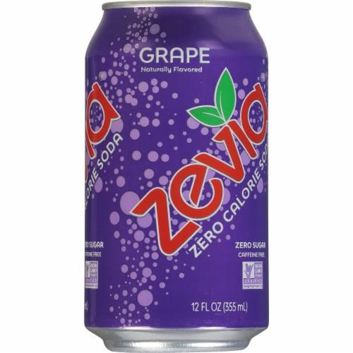 Zevia Grape Zero Calorie Soda Perspective: left
