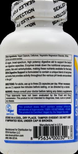 Deva Vegan Digestive Support Dietary Supplement Capsules Perspective: left