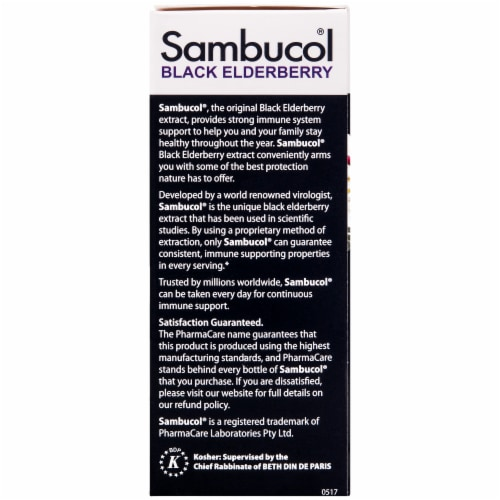 Sambucol Black Elderberry Gluten Free Dietary Supplement Perspective: left
