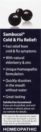 Sambucol Black Elderberry Cold & Flu Relief Tablets Perspective: left